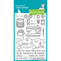 Lawn Fawn Clear Stamps - Sewn with Love