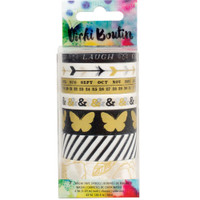 American Crafts - Vicki Boutin Mixed Media Washi Tape - Metallic