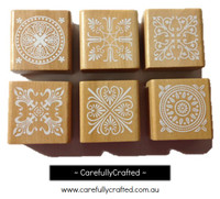 Wooden Stamp Set - Lace Designs #WS9