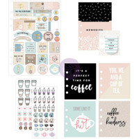 Prima Marketing - My Prima Planner Goodie Pack Embellishments - Coffee & Tea Lovers