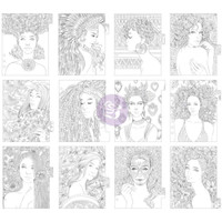 My Prima Planner - Coloring Tabbed Dividers - Set of 12 - Princesses
