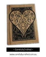 Wooden Stamp - Heart #WS13
