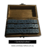 Wooden Stamp Set - Alphabet - Lowercase - 30 Pieces #WS14
