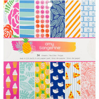 "American Crafts - Amy Tangerine - On a Whim - Single-Sided Paper Pad 6"" x 6"""