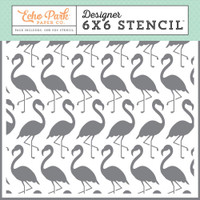 Echo Park Paper - Stencil - Summer Dream Flamingoes