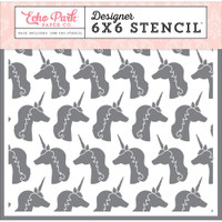 Echo Park Paper - Stencil - Unicorns