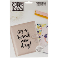 Carpe Diem - Planner Decals - Brand New Day - Large