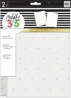 Create 365 - Me and My Big Ideas - The Happy Planner™ Snap- In Cover - White/Gold Dots - CLASSIC