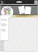 Me and My Big Ideas - The Happy Planner - Snap- In Cover - White/Gold Dots - Classic
