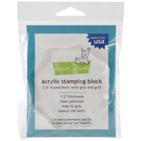 "Lawn Fawn Acrylic Stamping Block - 3.5"" Round"