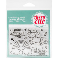 Avery Elle - Clear Stamp Set - Be A Unicorn