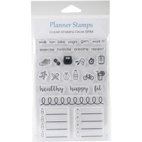 SRM Press - SRM Planner Clear Stamps - Healthy Plans