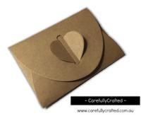 Heart Kraft Envelopes - Small - Set of 10