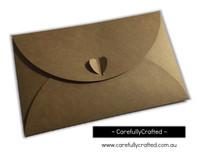 Heart Kraft Envelopes - Large - Set of 10