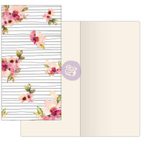 Prima Traveler's Journal - Notebook Refill - Scribble Line Florals (Ivory Paper)