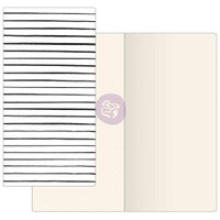 Prima Traveler's Journal - Notebook Refill - Modern Lines (Ivory Paper)
