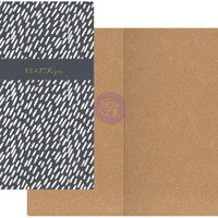 Prima Traveler's Journal - Notebook Refill - Dashes (Kraft Paper)