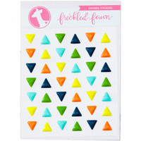 Freckled Fawn - Enamel Stickers - Colorful Triangles