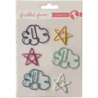 Freckled Fawn - Decorative Metal Paper Clips - Clouds & Stars