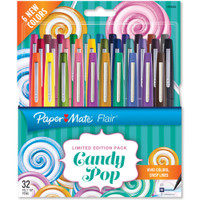 Paper Mate Flair Medium Felt Tip - Set of 32 - Candy Pop