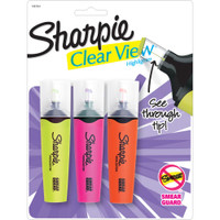 Sharpie Clear View Tank Highlighters - Set of 3