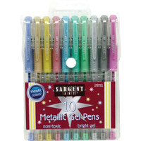 Sargent Art Metallic Gel Pen - Set of 10
