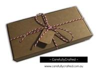 10 Kraft Paper Gift Box - 13.5cm x 7cm x 1.8cm #B8