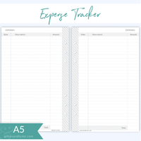 Green and Lyme - A5 Expense Tracker