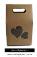 10 Kraft Heart Paper Gift Box - 8cm x 15.5cm x 6cm #B9