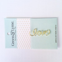 Green and Lyme - Love Paper Clip: Script
