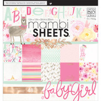 "Me and My Big Ideas - Mambi Single-Sided Paper Pad 12"" x 12"" - She's So Lovely"