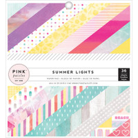 "Pink Paislee - Single-Sided Paper Pad 6"" x 6"" - Summer Lights"