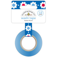 Doodlebug Washi Tape 15mm X 12yd - Freedom Flowers
