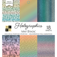 "DCWV Cardstock Stack 6"" x 6"" - 18 Sheets - Holographics"