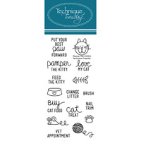Technique Tuesday Clear Stamps - Planner Cat