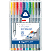 Triplus Fineliner Pens - Multi -Set of 10