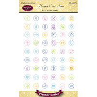 "Justrite Papercraft Clear Stamps 4"" x 6"" - Planner Circle Icons"