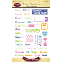 Justrite Papercraft - Clear Stamps - Planner Diet and Exercise