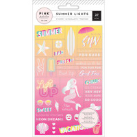 American Crafts - Summer Lights Acetate Stickers - Word Jumble