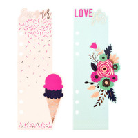Prima Marketing - My Prima Planner Plastic Bookmark Divider - Good Vibes - Set of 2