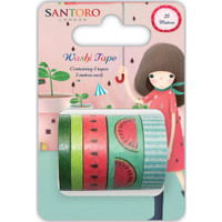 Craft Consortium - Santoro Kori Kumi II Washi Tape - Set of 5