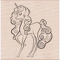 Hero Arts - Mounted Rubber Stamp - Unicorn