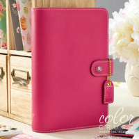 Webster's Pages - Color Crush - Faux Leather Personal Planner Kit - Fuchia