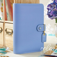 """Color Crush Faux Leather Personal Planner 5.25"""" X 8"""" - Periwinkle - Binder Only"""