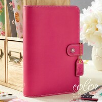 Webster's Pages - Color Crush - Faux Leather Personal Planner - Fuchia - Binder Only