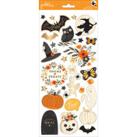 Pebbles - Midnight Haunting - Accent Stickers - Gold Foil