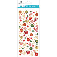 "Paper House Life Organized Micro Stickers 7"" x 3""- Christmas"