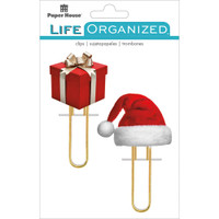 Paper House Life Organized - Puffy Clips - Set of 2 - Christmas