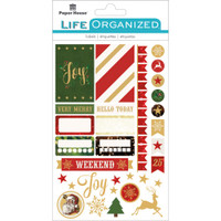 "Paper House Life Organized Planner Stickers 4.5"" x 7.5""- Christmas"