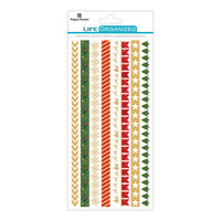 "Paper House Life Organized Rice Paper Border Stickers 8"" x 4""- Christmas"